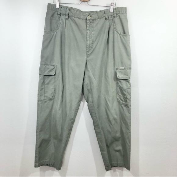 COLUMBIA Green Cargo Pants 36 x 27 Outdoor Hiking